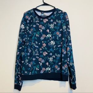 H&M Divided Floral Print Pullover Sweater - #101